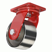 Flanged Track Iron Wheel Casters R-EHD-FT5FT