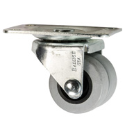low profile dual TPR wheel caster