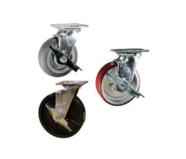 heavy duty casters with brakes