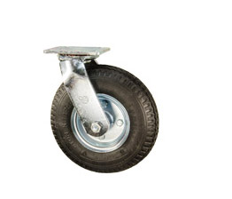 pneumatic wheel casters
