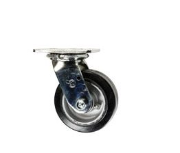rubber tread on aluminum core wheel casters