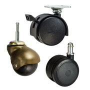 Furniture Casters with plastic wheels