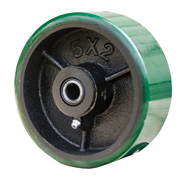 polyurethane on cast iron core wheels